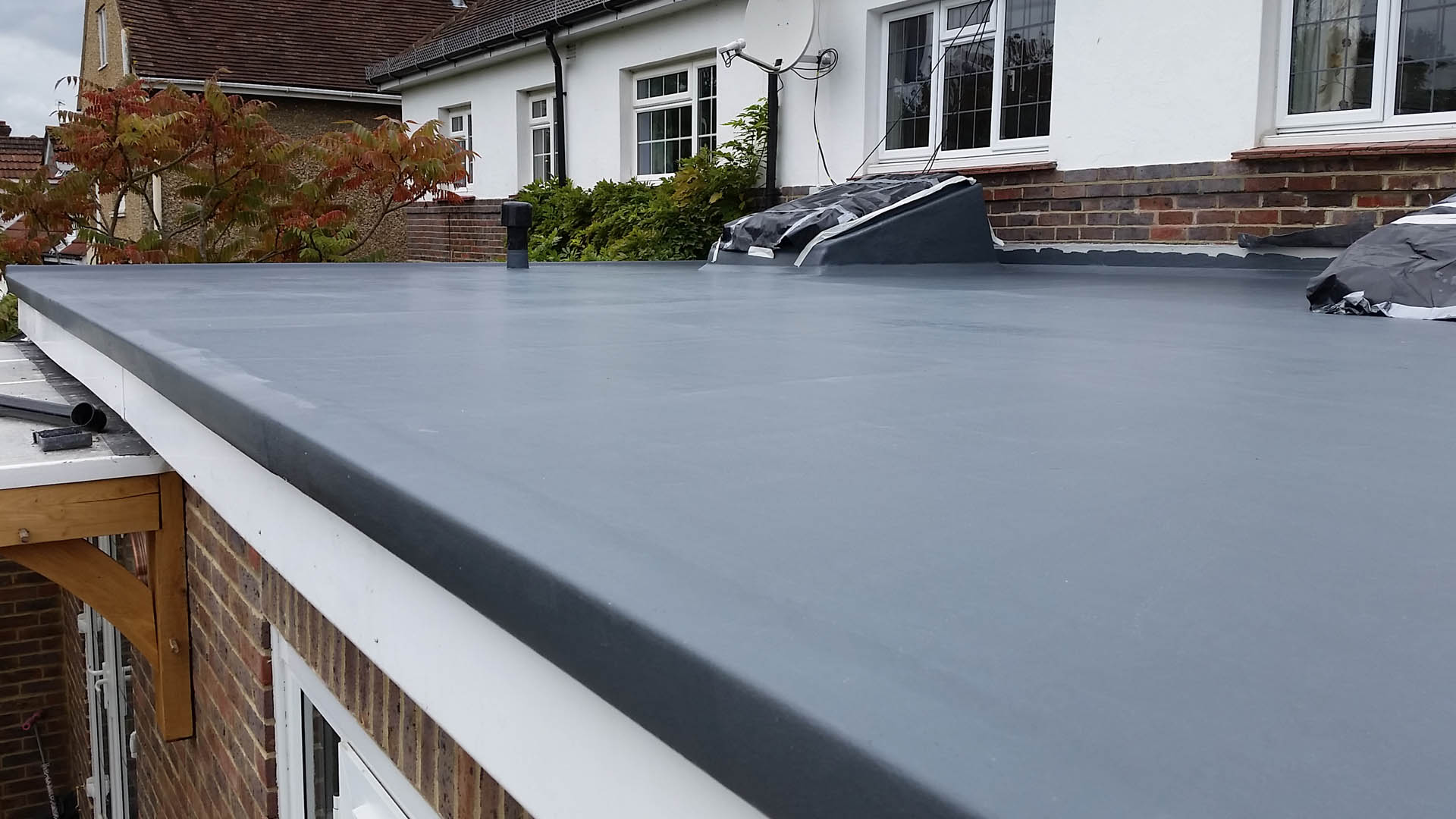 Uncategorized How To Make A Flat Roof new build flat roof west sussex fibreglass services in roofs
